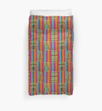 Colours of Africa (22) of a series of African Colours, KENTE of the Ashanti and Ewe in Ghana Duvet Cover