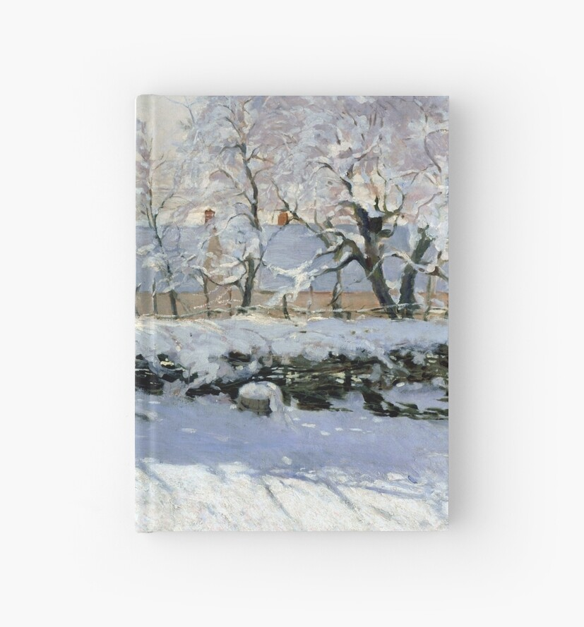 magpie claude monet holiday cards