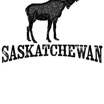 Saskatchewan T-shirt - Moose by LocationTees