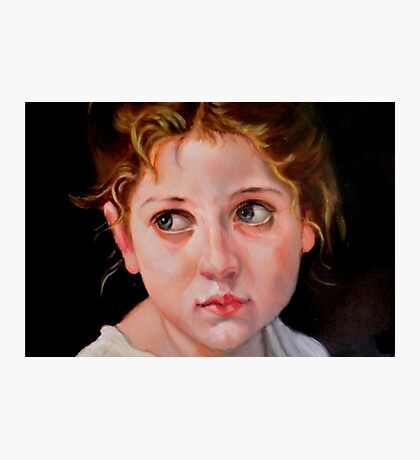 study head after W. Bouguereau Photographic Print