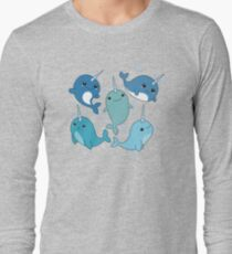 Narwhal Pattern Long Sleeve T-Shirt
