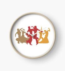 Colorful Flamenco Dancers Clock