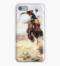 Charles Marion Russell A Bad Hoss iPhone Case/Skin