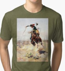 Charles Marion Russell A Bad Hoss Tri-blend T-Shirt