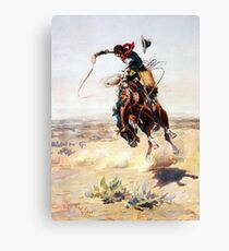 Charles Marion Russell A Bad Hoss Canvas Print