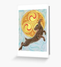 Sun Dancer Rabbit Greeting Card