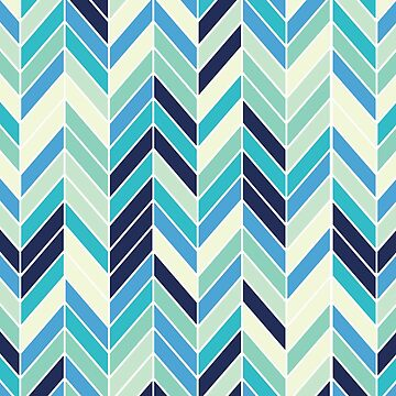 BLUE HERRINGBONE - [iPhone Case] by armeenerz