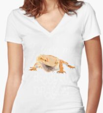 I love my bearded dragon Women's Fitted V-Neck T-Shirt