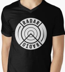 RADAR RADIO BACK PRINT / WHITE - GRIME Men's V-Neck T-Shirt