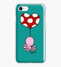 Heart Balloon Octopus iPhone Case/Skin