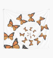 Monarch Butterflies Spiraling Tapestry