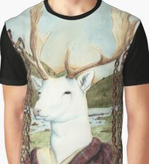 Dama MacGillavrey The White Stag Graphic T-Shirt