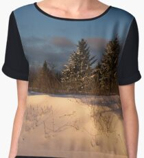 The Morning After the Snowstorm Women's Chiffon Top