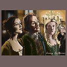 Outlander sketches - Jamie, Claire, listen to harpist by jennyjeffries