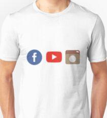 social networks- fb,yt,inst Unisex T-Shirt