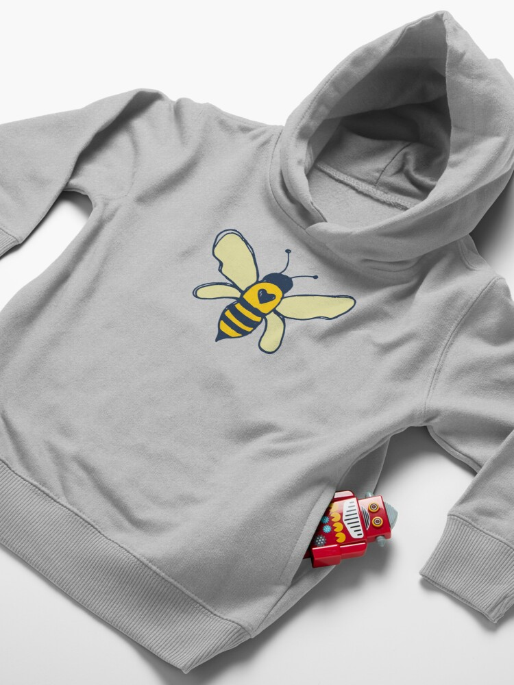 Alternate view of Bees and Flowers Toddler Pullover Hoodie