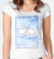 Manifesto »I AM PEACE« Tailliertes Rundhals-Shirt