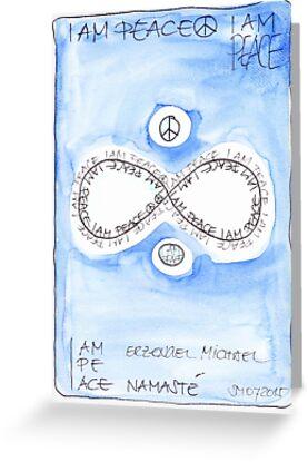 Manifesto »I AM PEACE« von Stefanie Marquetant