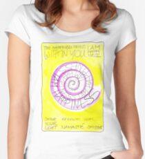 Manifesto »I AM HAPPINESS« Tailliertes Rundhals-Shirt