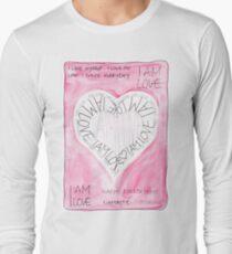 Manifesto »I AM LOVE« Langarmshirt