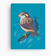 Mandala Sparrow Canvas Print