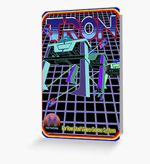 Vintage Tron Game Greeting Card