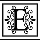 Letter E Monogram by imaginarystory