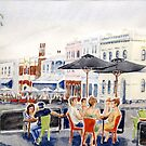 Warm evening in Nelson Place by Virginia  Coghill