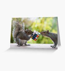 Squirrelisimo vs rubicks cube Greeting Card