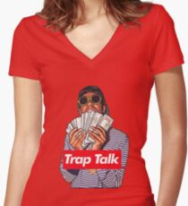 Rich the kid Women's Fitted V-Neck T-Shirt