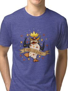 King Penguin - Party Like a King Edition Tri-blend T-Shirt