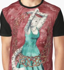 Snow Leopard Dancer Graphic T-Shirt