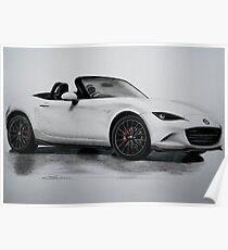 2016 Mazda MX-5 Miata Convertible - Rendering  Poster