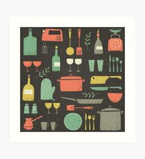 Love Your Kitchen. Retro Edition Art Print