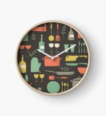 Love Your Kitchen. Retro Edition Clock