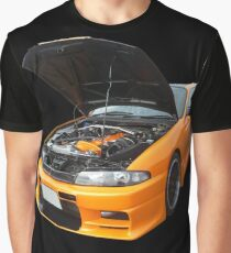 Orange Skyline Graphic T-Shirt
