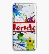 Nintendo Watercolor Splash Art iPhone Case/Skin