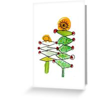 Flora's Trees Greeting Card