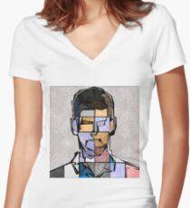 Novak Djokovic Women's Fitted V-Neck T-Shirt