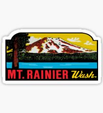 Mount Rainier Washington National Park Vintage Travel Decal 2 Sticker