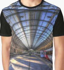 Kings Cross Rail Station London Graphic T-Shirt