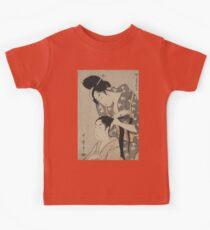 Tying hair - Utamaro Utagawa - 1798 Kids Tee