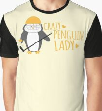 Crazy (ICE HOCKEY) Penguin Lady Graphic T-Shirt