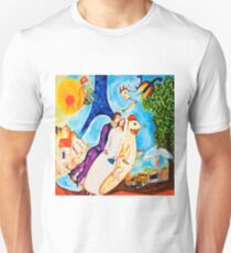 The Couple of the Eiffel Tower  Unisex T-Shirt