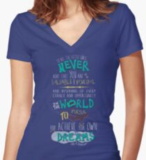 Hillary Clinton Quote - Version 2 Women's Fitted V-Neck T-Shirt