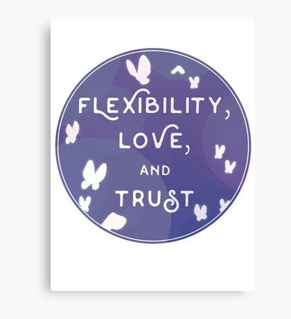 Flexibility, Love, and Trust Canvas Print