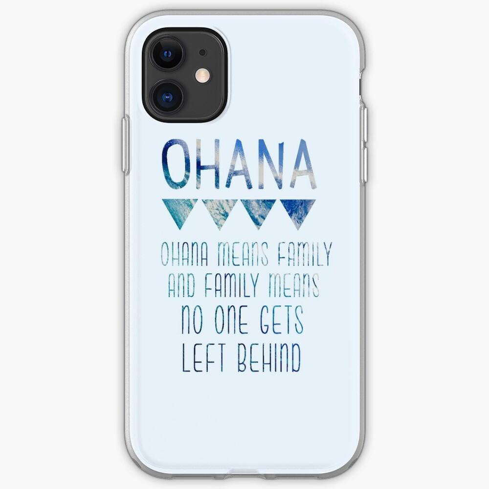 Ohana significa familia Funda y vinilo para iPhone
