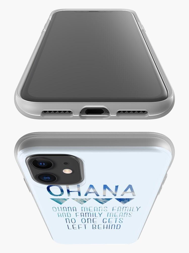 Vista alternativa de Funda y vinilo para iPhone Ohana significa familia