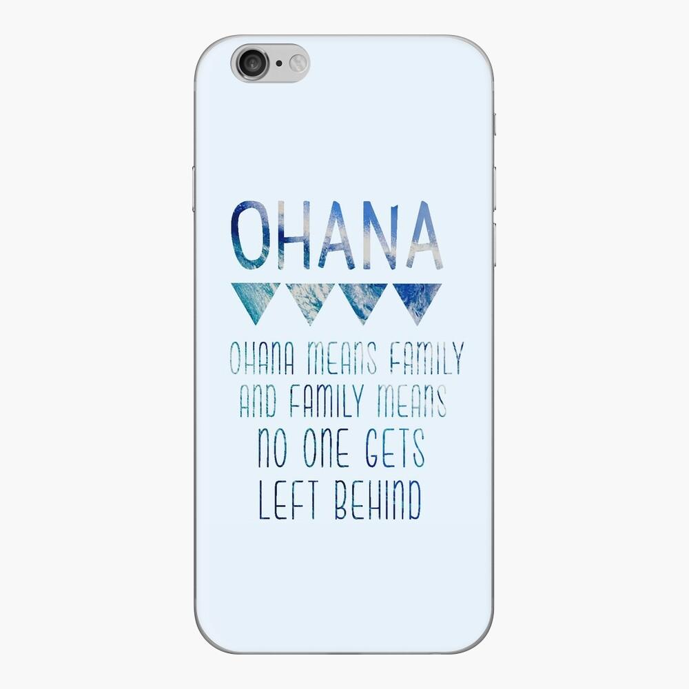 Ohana significa familia Vinilo para iPhone