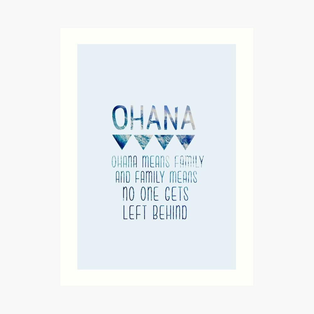 Ohana significa familia Lámina artística